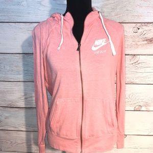 Nike hooded zip up sweatshirt.